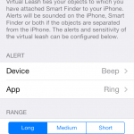 Smart Finder Virtual leash configuration 150x150 Bluetooth Smart Finder iOS App