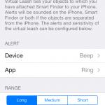 Smart Finder Virtual leash configuration 150x150 Bluetooth Smart Finder iOS App