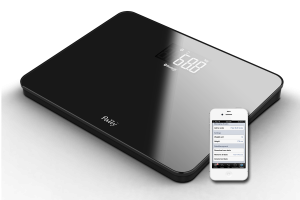 Pally scale with iPhone app 300x200 Ace Sensor Inc. Launches Brandable Smart Wireless Scale